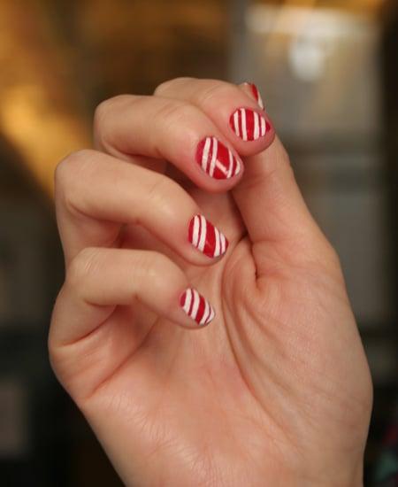 Candy Cane Manicure Tutorial