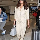 Priyanka Chopra Carrying a Gray Givenchy Antigona Tote Bag