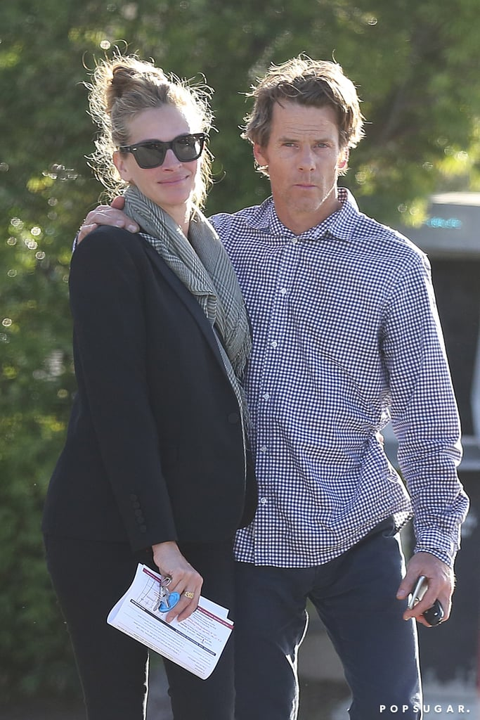 Julia Roberts and husband Danny Moder were spotted on a casual outing in Malibu, CA, on Saturday afternoon. The couple, who is going on 15 years of marriage in July, put on a loving display as they wrapped their arms around each other and Julia appeared to whisper something in Danny's ear. While we haven't seen the couple out and about together since November, Julia made history in April when she was named People's Most Beautiful Woman for the fifth time. It was also revealed earlier this week that Julia will be returning to the big screen in Crystal City Entertainment's adaptation of The Bookseller. Julia will not only star in the film, but she's also producing the project alongside Lisa Gillan, Marisa Yeres Gill, Jonathan Rubenstein, and Ari Pinchot.