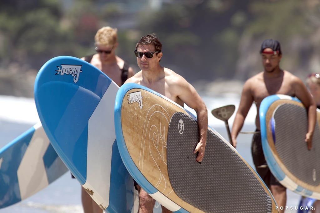 Tom Cruise went for a paddle with his son, Connor Cruise, on Father's Day.