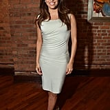 Eva Longoria showed off her enviable form in a body-con cocktail dress and nude peep-toe Brian Atwood pumps at the juror welcome lunch.