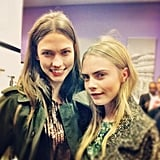 Before we followed Cara Delevingne, Coco introduced her to us (fittingly) on Instagram in a side-by-side with Karlie Kloss. Source: Instagram user cocorocha