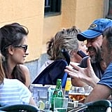 Penelope Cruz and Javier Bardem dined with friends in Madrid.