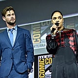 Pictured: Chris Hemsworth and Tessa Thompson at San Diego Comic-Con.