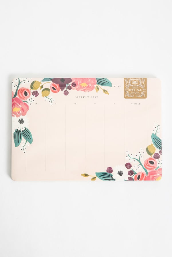 Rifle Paper Floral Weekly Desk Pad ($14)