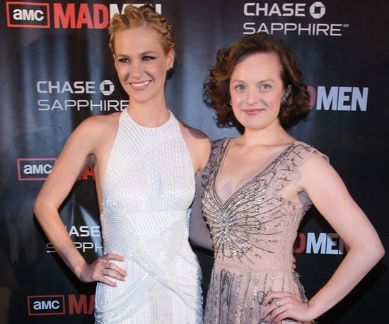 Slide Picture of January Jones and Elizabeth Moss at Mad Men Premiere in NYC