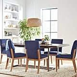 Stone & Beam Sophia Modern Accent Kitchen Dining Room Table Chairs