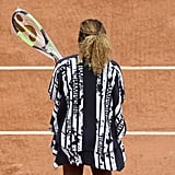 Serena Williams Off White Outfit With Text 2019 French Open