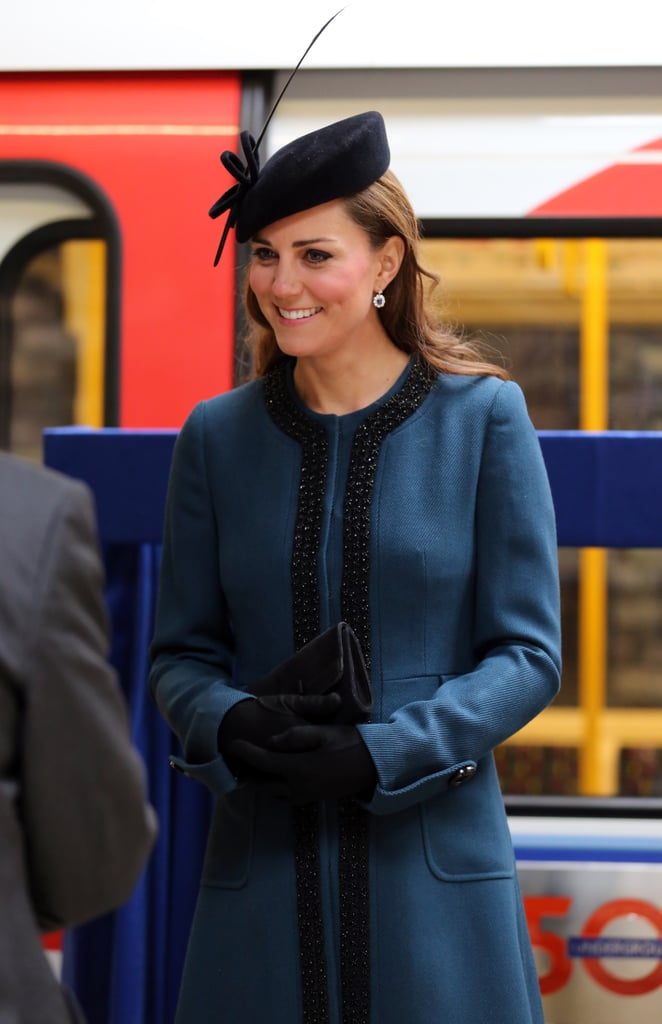 Kate Middleton erred on the side of statement-making with this black feather-infused hat in March 2013.