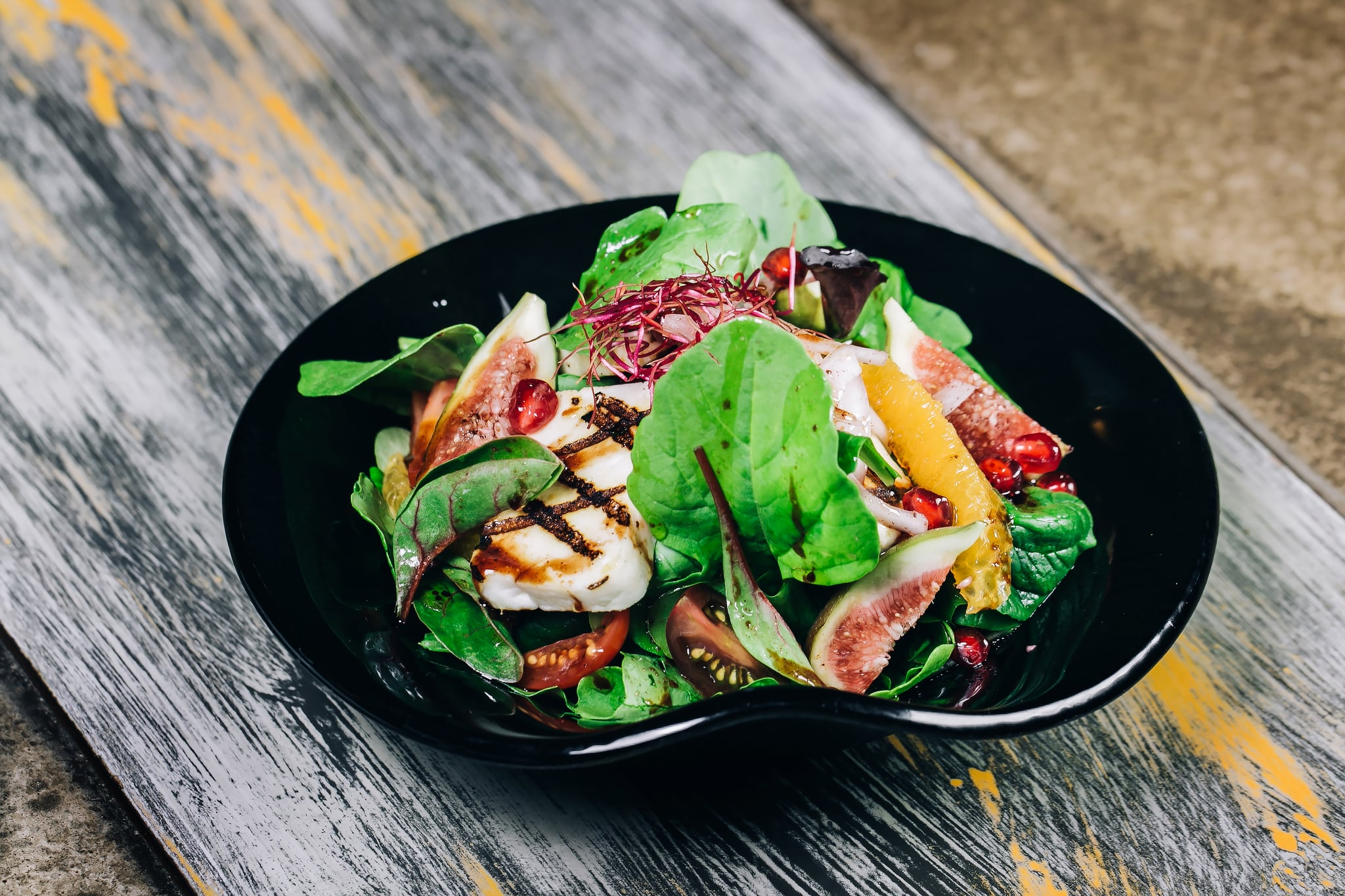 Rocca Salad With Grilled Halloumi Popsugar Middle East Food