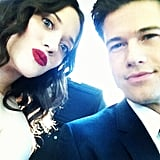Kat Dennings and date Nick Zano took a self-portrait to document their evening.  Source: Instagram user katdennings
