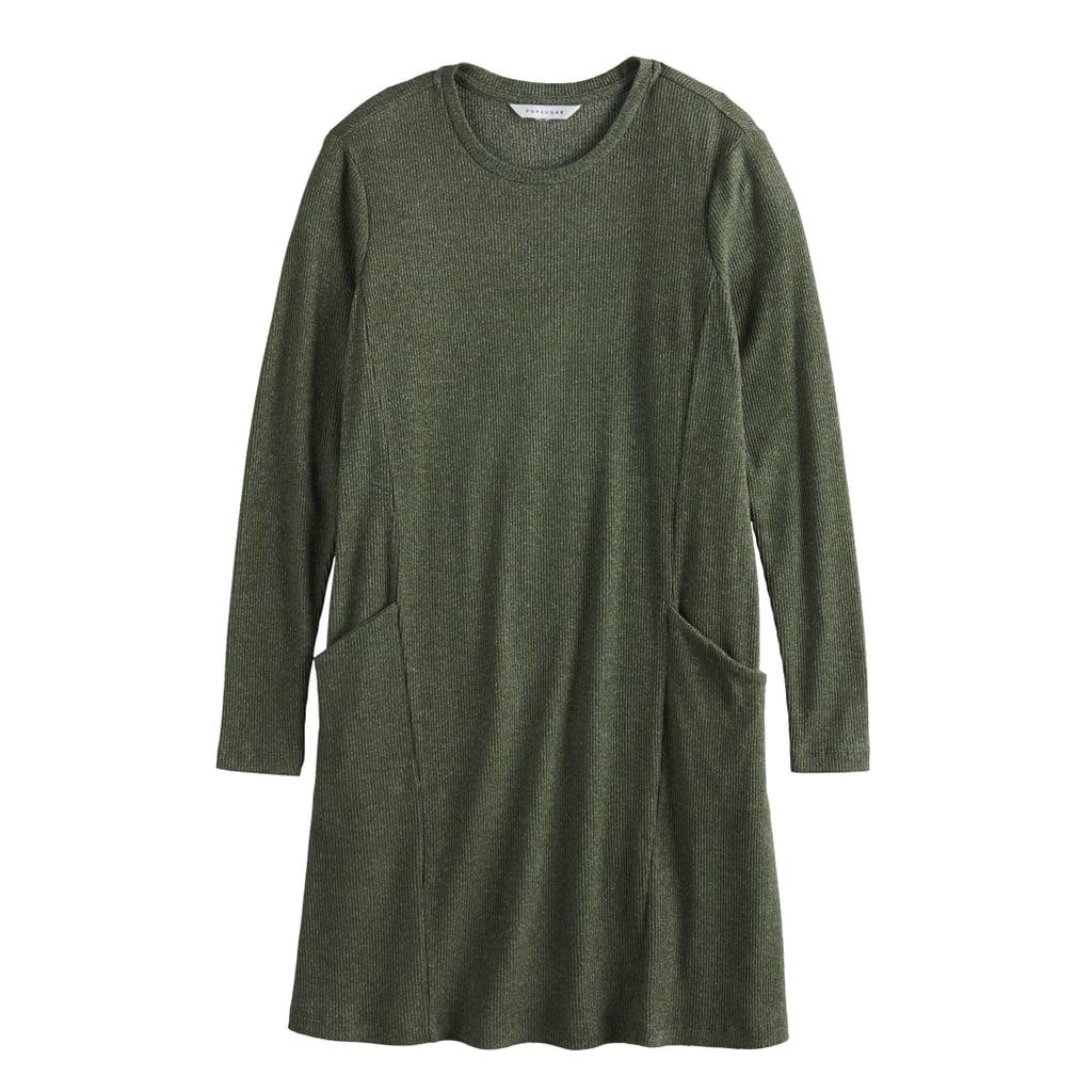 POPSUGAR Brushed Aline Pocket Shift Dress