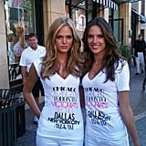 Victoria Secret angels Erin Heatherton and Alessandra Ambrosio looking fresh-faced and beautiful Twitter User: AngelAlessandra