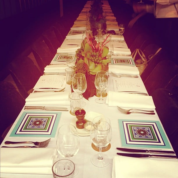 Scusie, how pretty is this table setting? Ali was very taken by the cute styling at the Peugeot/L'America launch.