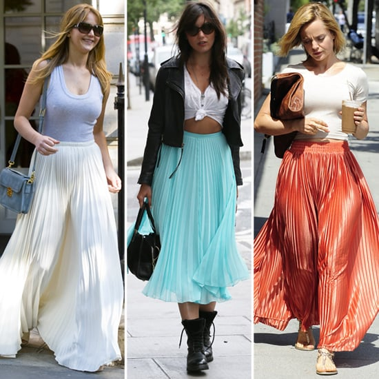 Pleated Maxi Skirts (Celebrity Pictures and Shopping)