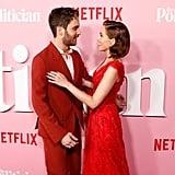 Ben Platt and Zoey Deutch at The Politician Premiere