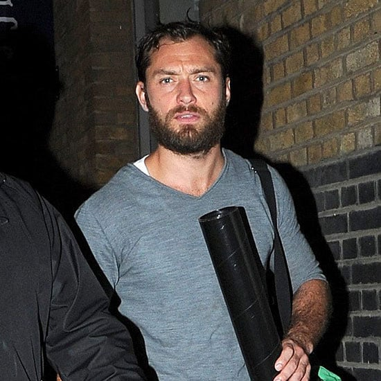 Jude Law Leaving Theater After an Anna Christie Performance