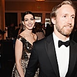 Pictured: Anne Hathaway and Adam Shulman