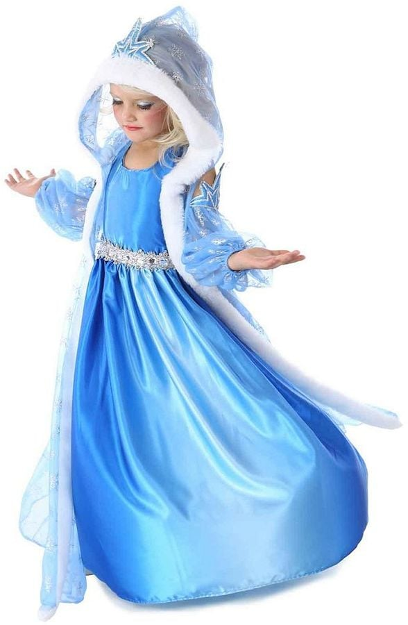 Snow Queen Gown and Cape Costume | Halloween Costumes That Will Keep ...