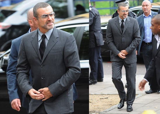 Pictures of George Michael Who Has Been Sentenced to Eight Weeks After Crashing His Car Under Influence of Drugs