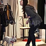 Michelle Shops with her French Bulldog