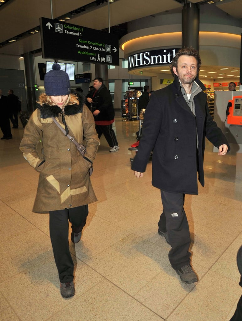 Rachel McAdams and Michael Sheen stuck together at the airport in Dublin on Friday. The couple headed off on a trip during a break from work for both, as he's been filming Breaking Dawn and she shot a Terrence Malick movie with Ben Affleck. She was recently in Europe on a solo tour, though, promoting Morning Glory with stops in German, Spain, and France. Rachel and Michael's romance began when they were abroad last Summer working on Woody Allen's Midnight in Paris, but they didn't go public with their love until they were snapped holding hands in Toronto in October.