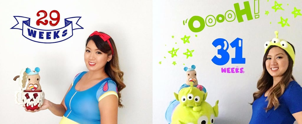 The Heartwarming Story Behind This Woman's Disney-Themed Rainbow Baby Bump Photos