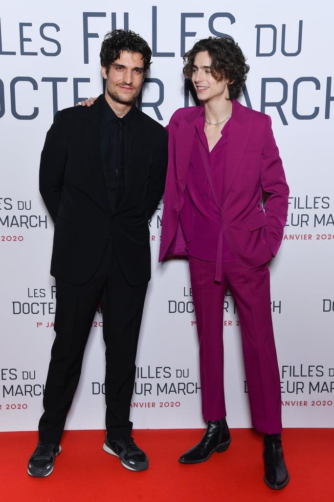Louis Garrel and Timothée Chalamet at the Little Women Premiere