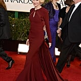 Naomi Watts turned it out in a body-hugging Zac Posen gown, and it just so happened to be in this season's hottest color: oxblood. She may have stayed covered up in long sleeves, but the look was not without some subtle sex appeal. Just look to the jaw-dropping back cutout for further proof.