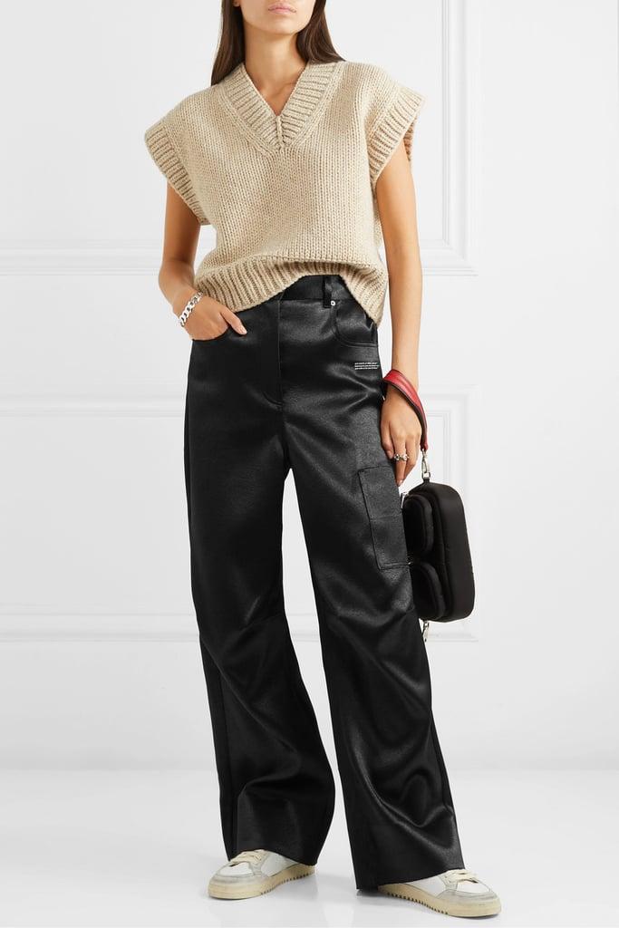 Off-White Printed duchesse-satin pants