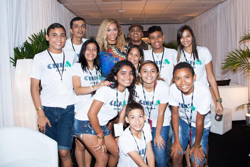 She Visited Kids in Brazil