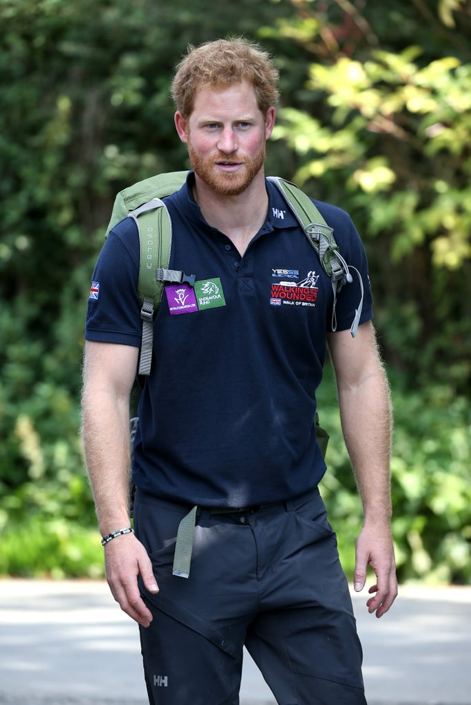 Prince Harry Walking the Wounded's Walk of Britain ...