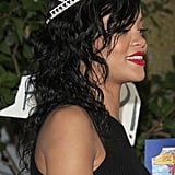 Rihanna wore her crown.