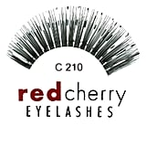 Red Cherry Eyelashes With Silver Tinsel C210