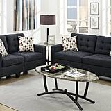 Poundex Bobkona Windsor Linen-Like 2 Piece Sofa Set