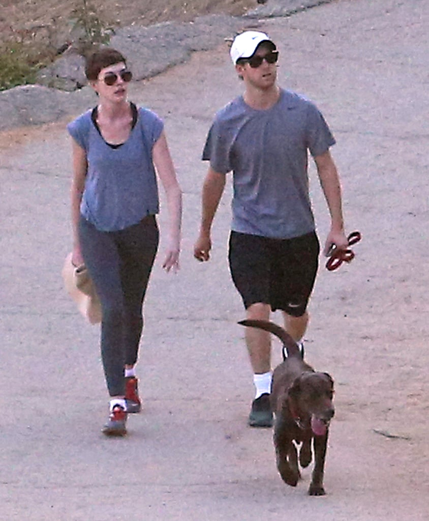Anne Hathaway and Adam Shulman hung out in LA.
