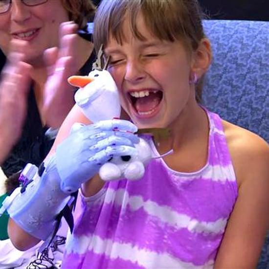 Little Girl Gets Frozen Prosthetic Arm