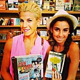 Jessica and Sascha Seinfeld hung out at their local bookstore with their favorite finds. Source: Instagram user jessseinfeld