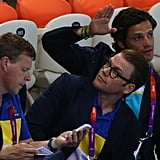 Prince Harry Gets Patriotic to Watch Olympic Diving