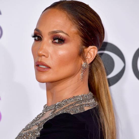 Jennifer Lopez Hair, Makeup at People's Choice Awards 2017