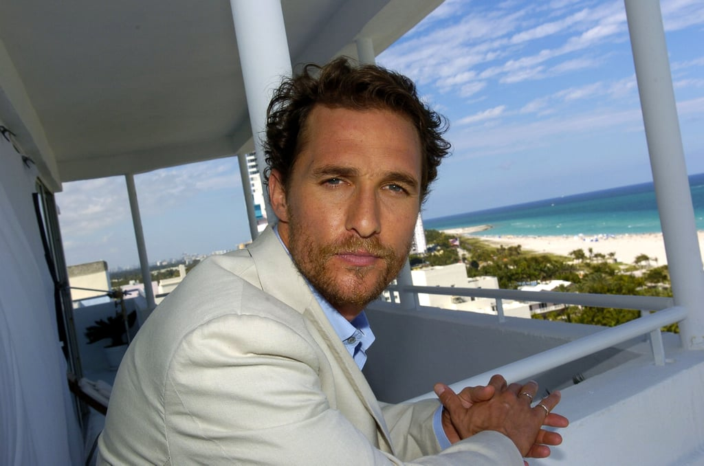 The star looked sexy and scruffy in Miami while promoting Sahara in April 2005.