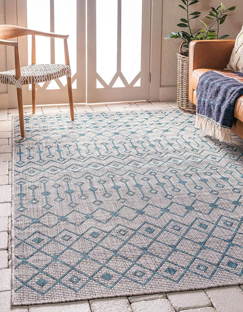Unique Loom Outdoor Trellis Collection Geometric Indoor And