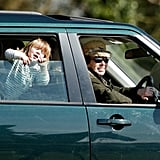 Princess Anne With Her Granddaughter Mia Tindall in Stroud, England, in March 2017