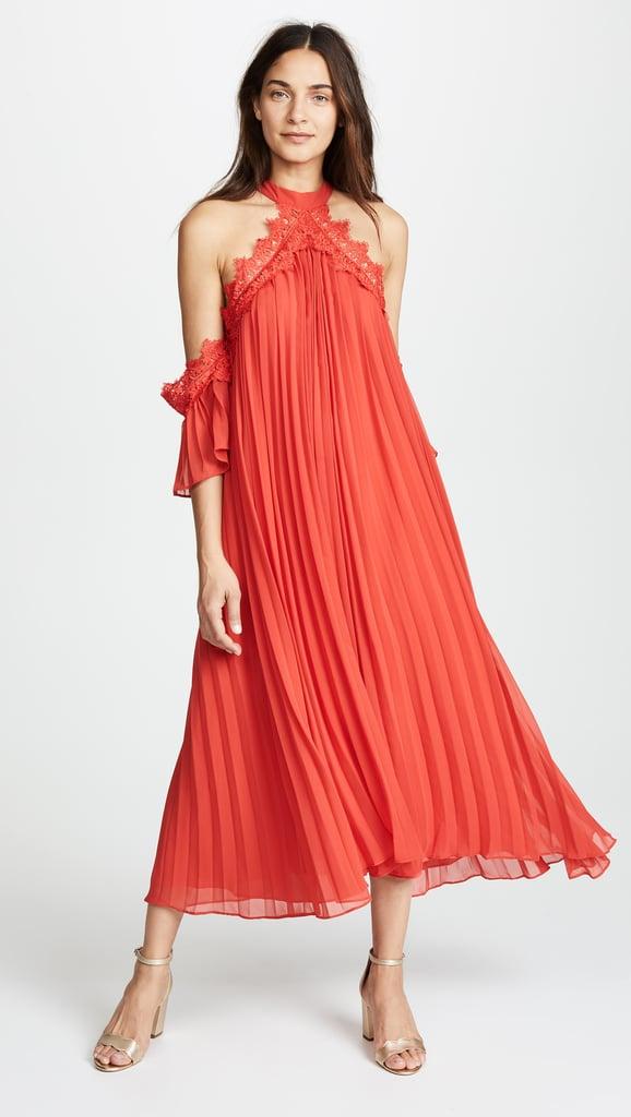 Glamorous True Decadence Maxi Dress with Pleats