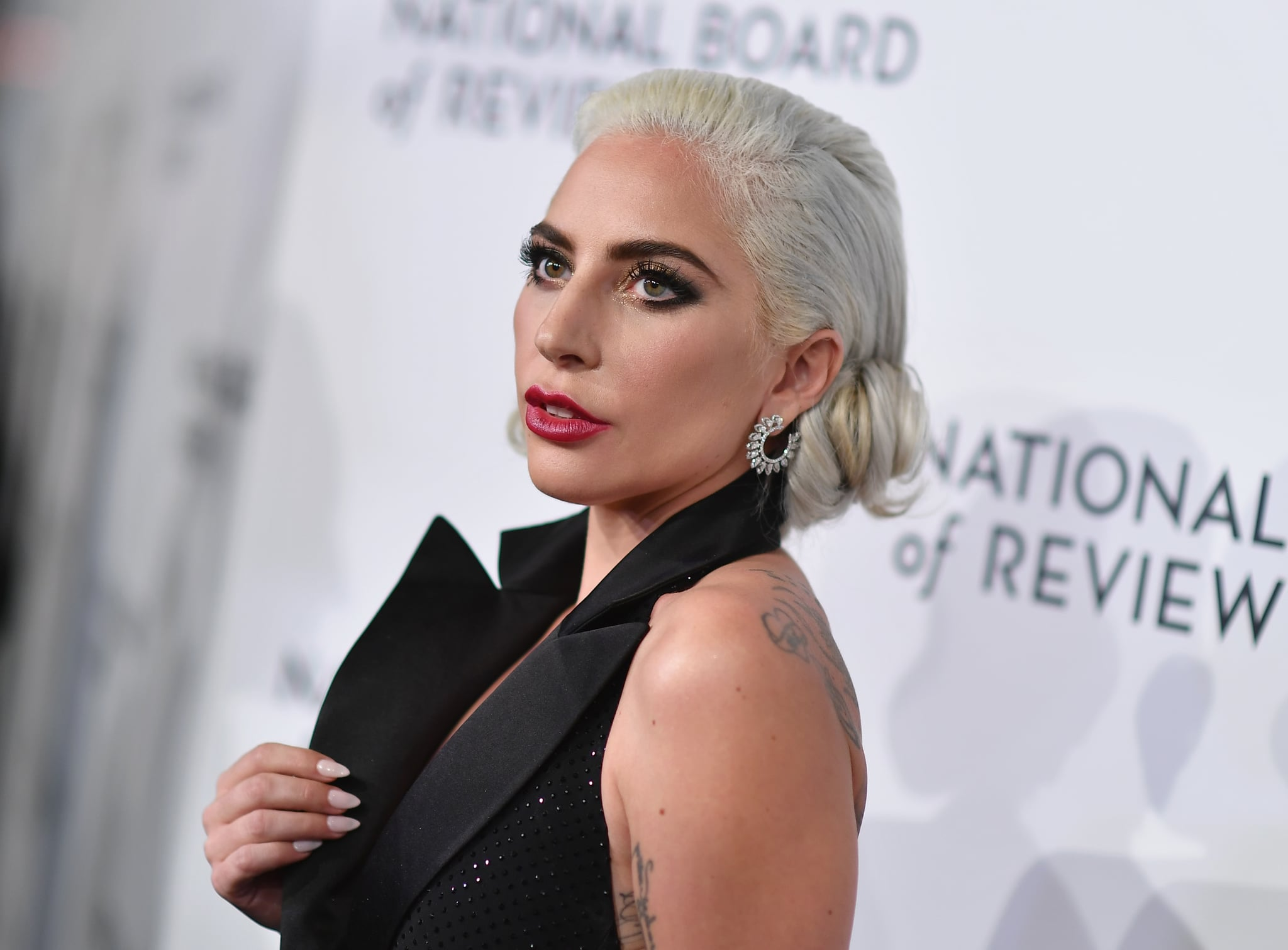 Actress/singer Lady Gaga attends the 2019 National Board Of Review Gala at Cipriani 42nd Street on January 08, 2019 in New York City. (Photo by Angela Weiss / AFP)        (Photo credit should read ANGELA WEISS/AFP/Getty Images)