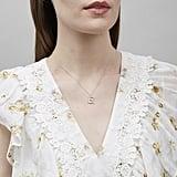Alex Monroe Silver Floral Letter Alphabet Necklace