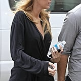 Blake Lively was spotted in NYC on set.