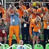 The Dutch royal family at the Summer Olympics in Rio de Janeiro.