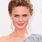 Even though Fall has begun, Emily Deschanel's pulled out her vibrant hot pink lipstick to kick off the season right.