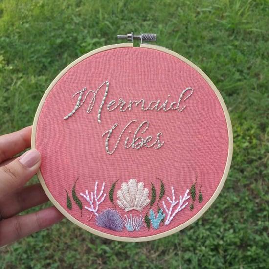 Mermaid Embroidery Hoops